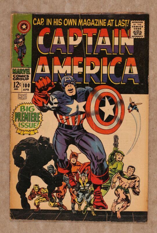 Captain America #100 GD/VG 3.0 1968