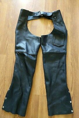 Ladies Leather Chaps Pants - LADIES HILLSIDE LEATHER CHAPS SIZE Small USA motorcycle pants
