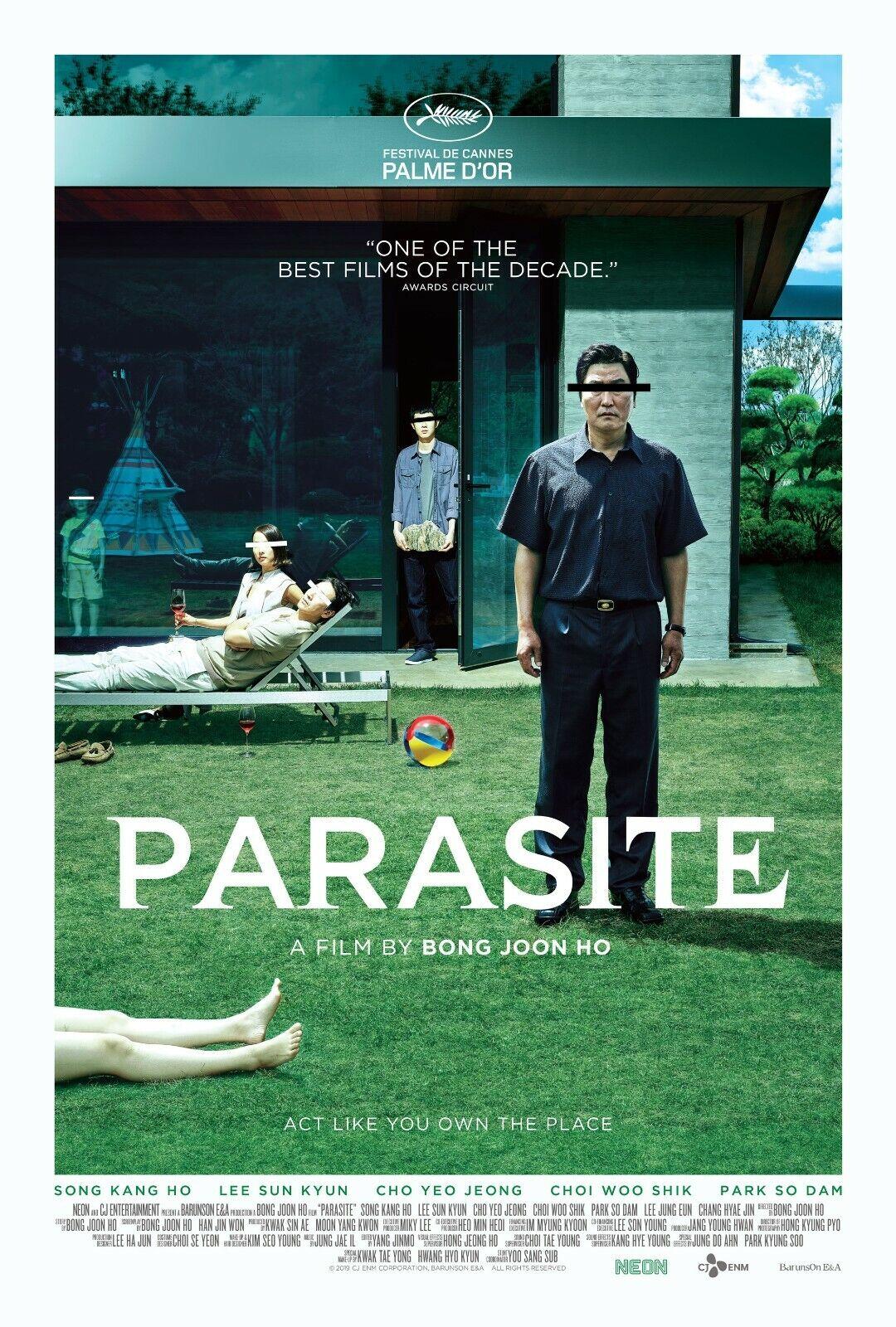 "Parasite movie poster (b) - 11"" x 17"" inches - Bong Joon Ho"