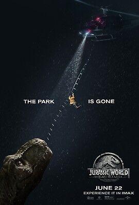 Jurassic World 2 Fallen Kingdom Movie Poster  24X36    Chris Pratt  Howard V7