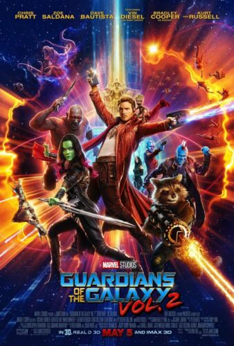 GUARDIANS OF THE GALAXY VOL 2 13x19 Movie Poster DS Double Sided Avengers