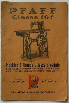 Mode d'emploi. PFAFF Machine (à coudre) Grande Vitesse à pédale (vers 1900-1925), used for sale  Shipping to Nigeria