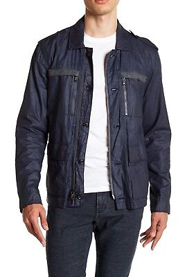 $448 NEW John Varvatos Multi-Pocket Field Jacket in Blue Heather Size SMALL ()
