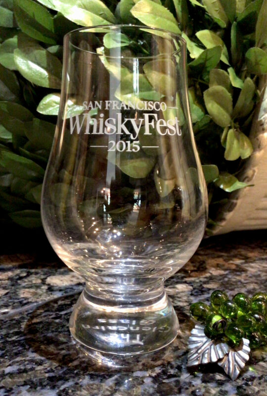 Limited Edition Crystal Glencairn Glass  WHISKYFEST 2015 San Francisco PRISTINE!