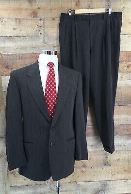 Lubiam Italian Men's Wool Gray 2Pc Suit Size 50R Italian Men Suits
