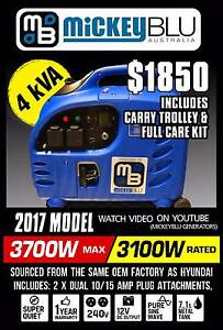 Generator 4.8kva Mickey Blu remote control, ideal for caravans Melrose Park Mitcham Area Preview