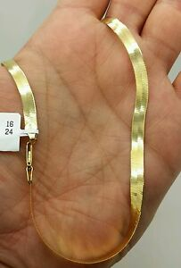 14k gold herringbone chain ebay
