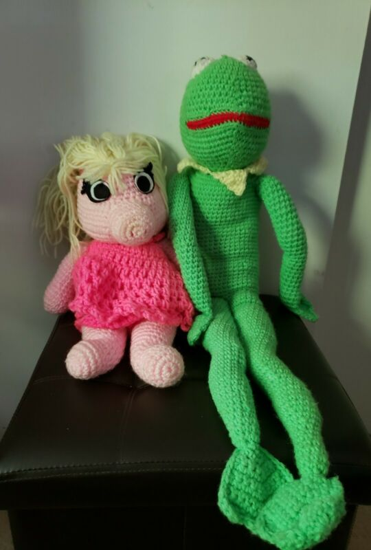 Crochet Kermit The Frog & Miss Piggy