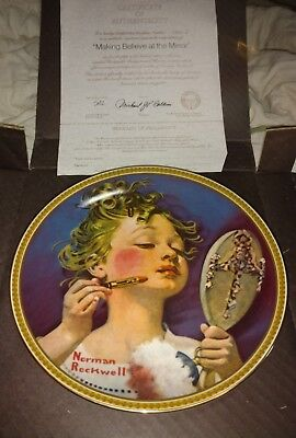 5 of Norman Rockwell's Rediscovered Women COLLECTION Series Plates MIB COA 1982