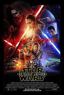 """Star Wars/ the force awakens ( 11"""" x 17"""" )Movie Collector's Poster Print - B2G1F"""