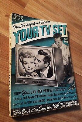 Popular Science Tv Set 1952 Lucille Ball Desi Arnaz I Love Lucy Marriage Godfrey