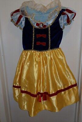 Cute Disney Snow White Halloween Costume Dress 6 7 8 10 Princess Girl EUC