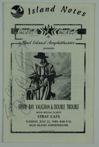 Stevie Ray Vaughan JSA Signed Autograph Concert Program