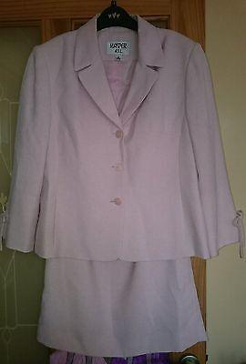 Kasper A.S.L. ladies skirt suit jacket pale pink wedding event