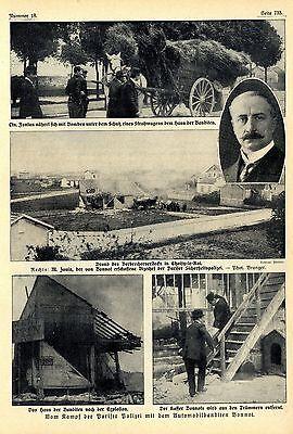 Kampf gegen die Pariser Automobilapachen ( Bonnot ) Historical Memorabilia 1912