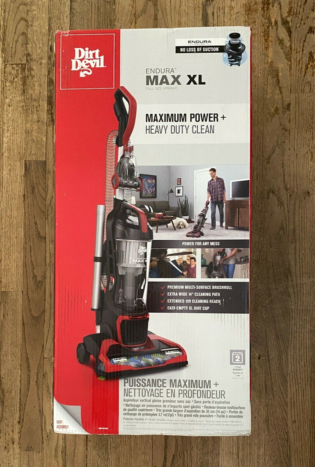 Dirt Devil Endura Max XL Bagless Upright Vacuum Cleaner, wit