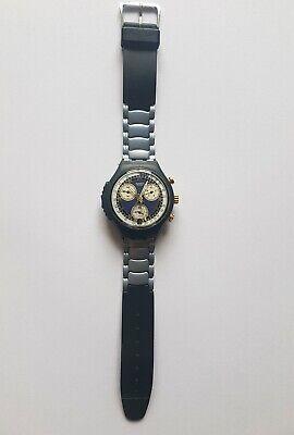 Uhr Swatch Chrono-Alarm SOB401 Twinkling 1997 / 1998 goldfarbig selten ()