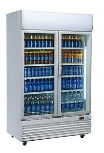 2 DOOR DC1000H COMMERCIAL UPRIGHT GLASS DISPLAY FRIDGE NEW DRINKS Molendinar Gold Coast City Preview