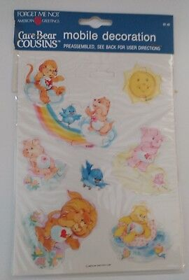 American Greetings Care Bears Paper Mobile Decoration On String NEW Old Stock