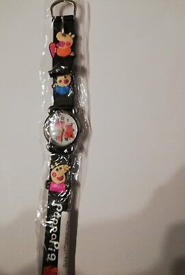 Peppa Pig, Peppa Wutz Armbanduhr, Uhr schwarz 3