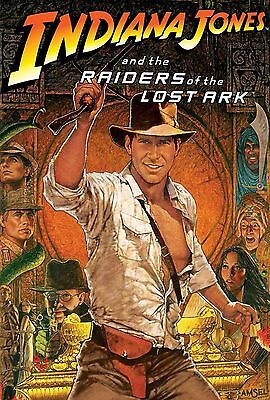 Raiders Of The Lost Ark Movie Silk Poster 11 X17  Indiana Jones Harrison Ford