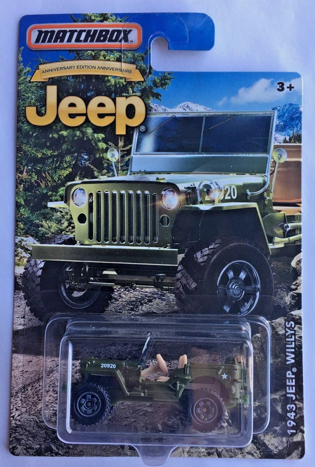 Matchbox Jeep Willys MB US Army Military CJ M38 GPW Bantam Quad Ford War Walmart