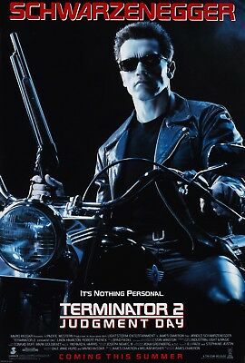 TERMINATOR 2: JUDGMENT DAY (1991) ORIGINAL MOVIE POSTER  -  ROLLED  DOUBLE-SIDED