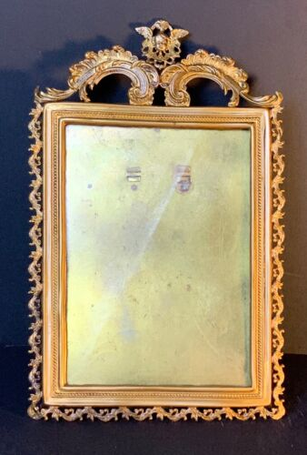 Vintage Italian gilt picture frame with carved angel 1920' FREE SHIPPING
