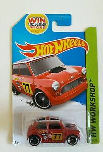 Hotwheels Red Morris Mini All New & Sealed Long card version
