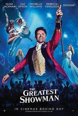 The Greatest Showman Movie Poster  24X36    Hugh Jackman  Zendaya  Zac Efron