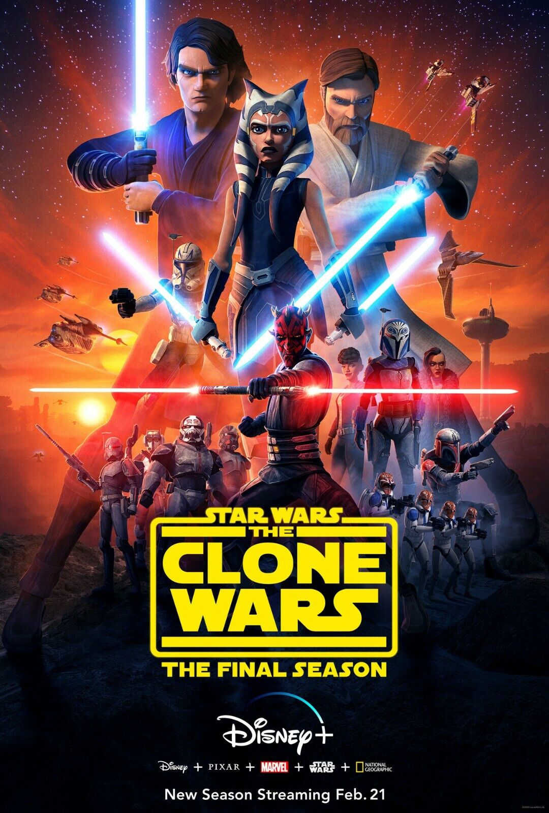 Star Wars The Clone Wars poster (a)  -  11 x 17 inches -