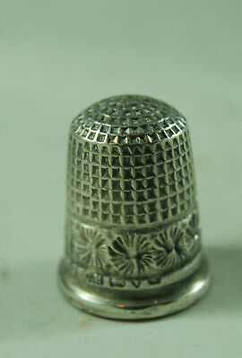 Antique Silver Thimble Charles Horner Chester c1905 Size 9 AZX