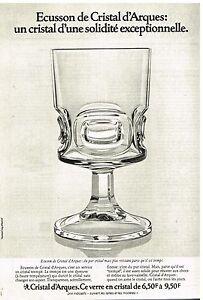 publicit advertising 1976 cristal d 39 arques les verres. Black Bedroom Furniture Sets. Home Design Ideas