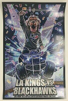 Los Angeles KINGS vs Chicago BLACKHAWKS Stadium Giveaway BAILEY Birthday - Blackhawks Birthday