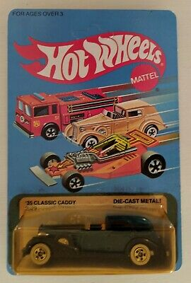 1982 Hot Wheels '35 CLASSIC CADDY 2529 BLUE UNPUNCHED CARD, SEALED!!