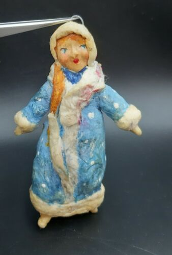. USSR Christmas tree toy Ornament  Vintage decoration Cotton    snow maiden