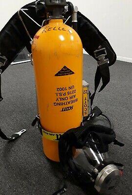Scott Air-pak Emergency Mobile Presur-pak 30 Minutes Yellow Tank 2216 Psi