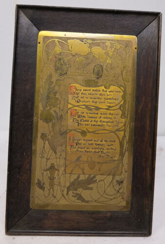 Antique Vintage Art Nouveau Poppies Scottish Brownies Song George Rutledge