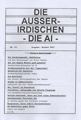 DIE AUSSERIDISCHEN - HEFT 23 - UFO Magazin von Eva Groenke - Bundestagswahl 2017