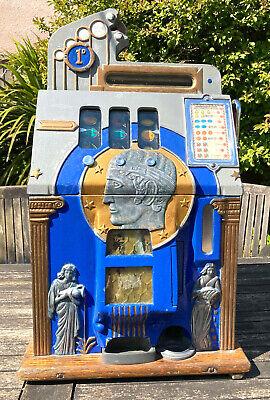 Vintage Mills Roman Head one armed bandit slot machine