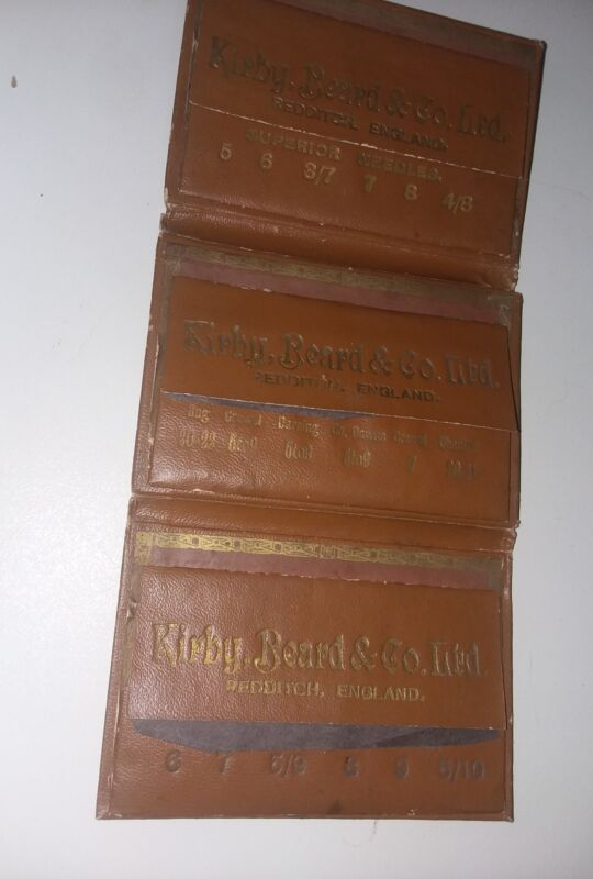 Kirby Beard and Company Ltd. England Leather Antique Needle Case