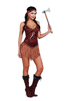 Sexy Dreamgirl Adult Women's Halloween Hot on the Hunt Indian Girl Costume