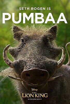 The Lion King 2019 Movie Poster  - Pumbaa, Seth Rogen v10