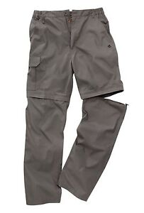 CRAGHOPPER MENS  BASECAMP CONVERTIBLE ZIP OFF SOLAR DRY WALKING OUTDOOR TROUSERS