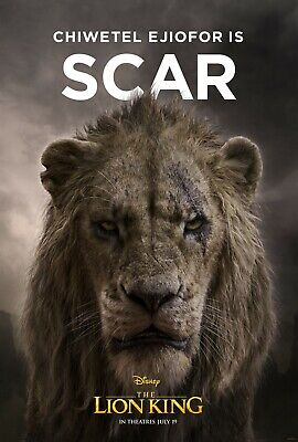 The Lion King 2019 Movie Poster  - Scar, Chiwetel Ejiofor v5