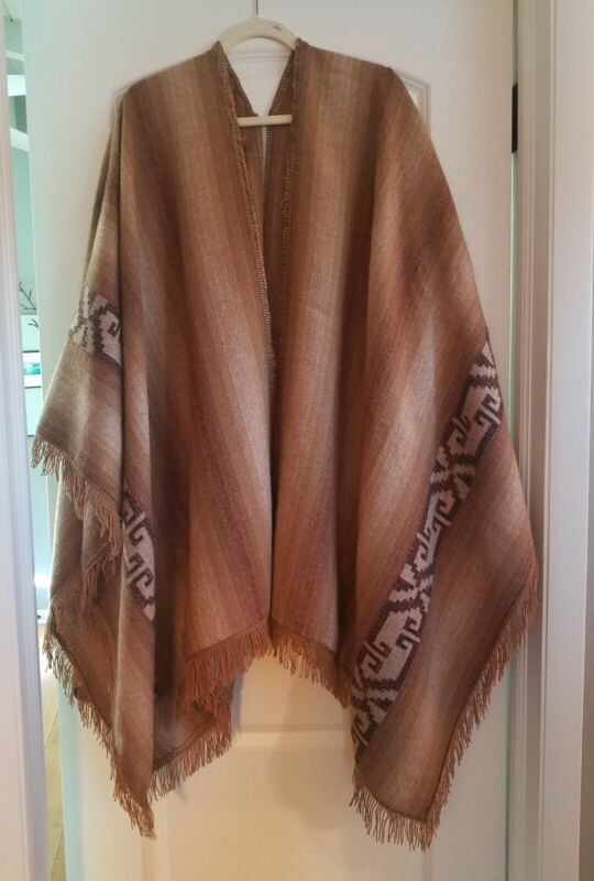 antique/vintage hand woven wool Poncho