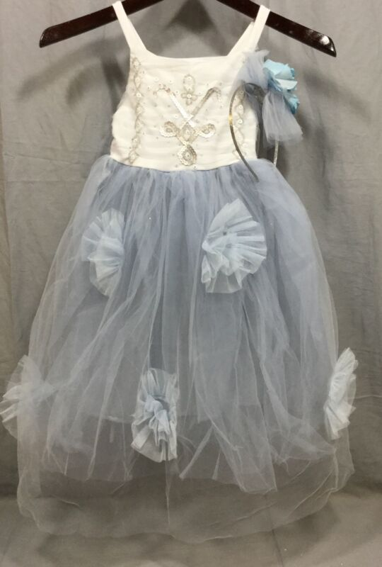 Pottery Barn Kids Monique Lhuillier Blue Fairy Halloween Costume 7-8