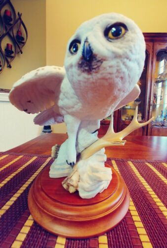 Franklin Mint THE  SNOWY OWL BY GEORGE McMONIGLE