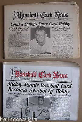 """""""Baseball Card News"""" Hobby Publications: 1983 & 1986 w/Mickey Mantle covers"""