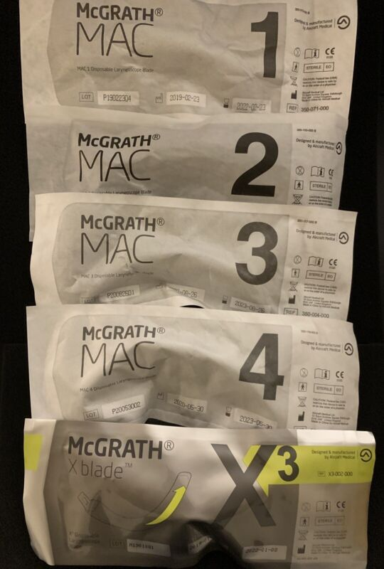 McGrath Video Laryngoscope Disposable Blade (various sizes) Medtronic Covidien